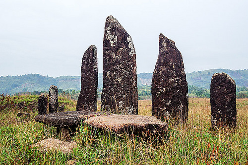 khasi menhirs and dolmens - table-stones - memorial stones (india), archaeology, cenotaph, dolmens, east khasi hills, megaliths, meghalaya, memorial stones, menhirs, monoliths, standing stones, table-stones