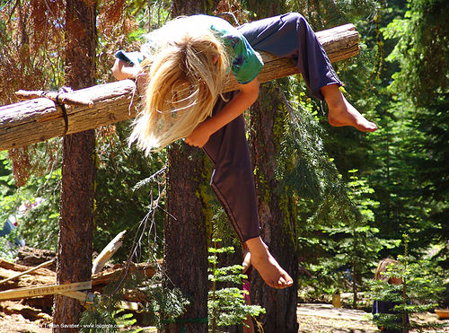 kid-on-swing - rainbow gathering - hippie, child, hippie, kid, rainbow family, rainbow gathering