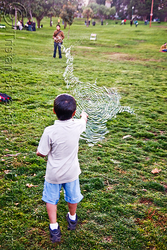 kid popping giant soap bubble, big bubble, children, giant bubble, kids, lawn, park, playing, popped, popping, soap bubbles