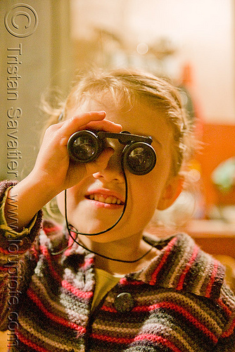 kid with binoculars, apolline, binoculars, child, kid