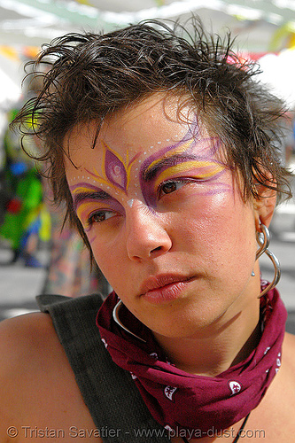 kirstin - burning-man 2006, art, burning man, center camp, face painting, facepaint, kirstin