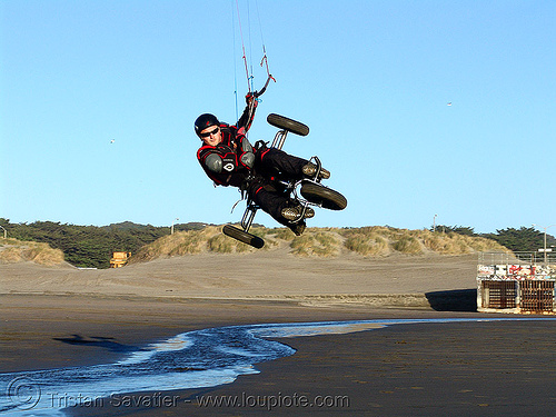 kite buggy, extreme sport, kiteboarder, kiteboarding, kitebuggy, kiting, ocean beach, people, slawek, tricycle