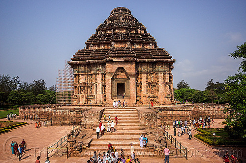 konark sun temple (india), crowd, hindu temple, hinduism, people, stairs, steps, stone, tourists