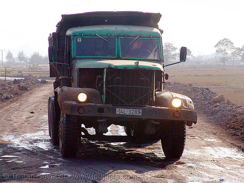 "КрAз-257 - kraz-257 ukrainian truck on ""touristic development site"" - vietnam, 4x4, 6x6, all-terrain, army truck, green, kraz-257, kremenchuts'ky avtomobil'ny zavod, lorry, military truck, road, крa3-257, крaз-257, кременчуцький автомобільний завод"