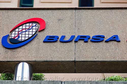 kuala lumpur stock exchange - bursa, bursa, capitalism, kuala lumpur, logo, sign, stock chart, stock exchange, up