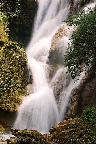 kuang si waterfall - luang prabang (laos), cascade, falls, kuang si falls, water
