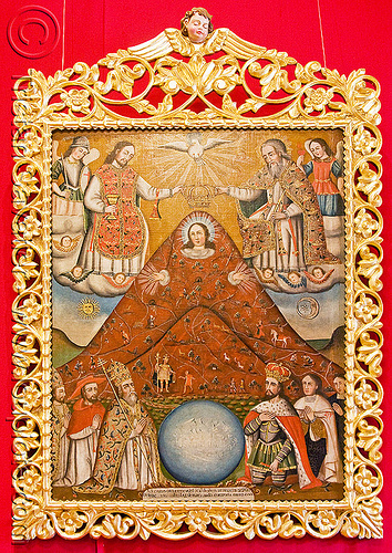 la virgen del cerro - virgin mary as the cerro rico mountain - potosi (bolivia), casa de la moneda, casa nacional de moneda, cerro rico, madonna, painting, potosí, religion, sacred art, virgin mary