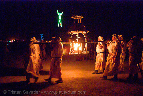 lamplighter's procession - lantern - fire conclave - burning man 2007, burning man, fire conclave, lamplighters, lantern, night of the burn