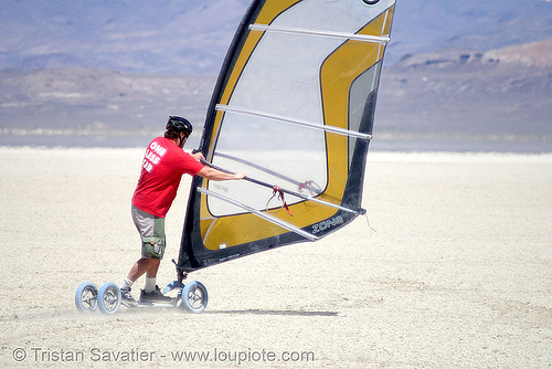 landsailing (black rock desert, nevada), black rock desert, landboard, landsailing, people, playa, sailing, speedsail, speedsailing, windsurf, windsurfer, windsurfing