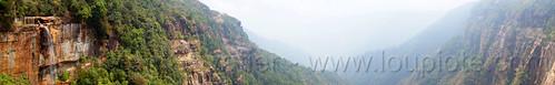 landscape panorama - cherrapunji - east khasi hills (india), cherrapunjee, cherrapunji, cliff, east khasi hills, meghalaya, mountains, panorama, sohra, valley, wakaba falls, water, waterfall, wha kaba falls
