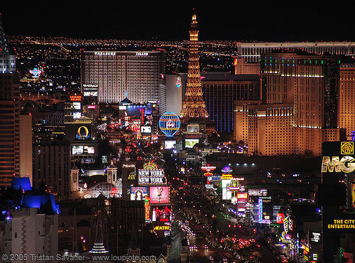 las vegas strip at night, aerial photo, buildings, casinos, city lights, cityscape, eiffel tower, hotels, las vegas, night, skyline, the strip