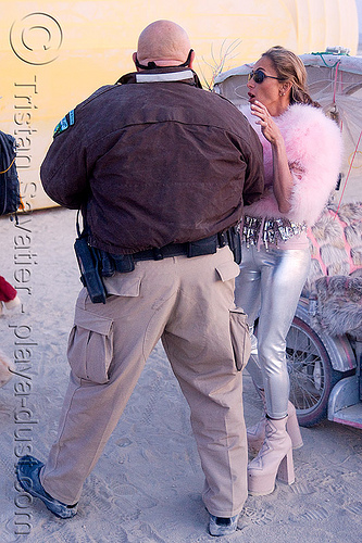 law enforcement activity - police - burning man 2008, blm, bureau of land management, bust, law enforcement officers, people, police uniform, ranger