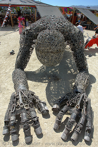 leaping giant - burning-man 2006, art installation, burning man, dan dasmann, karen cusolito, three leaping giants