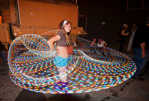 LED hoop - light painting, burning man decompression, chelsea, glowing, hooper, hooping, led hoop, led hulahoop, led lights, led-light, light hoop, long exposure, night, woman