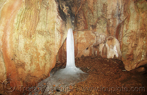 ledenika-cave - ice lingam (burgaria), caving, ice cave, ice linga, ice stalagmite, natural cave, shiva lingam, spelunking, vratcha, българия