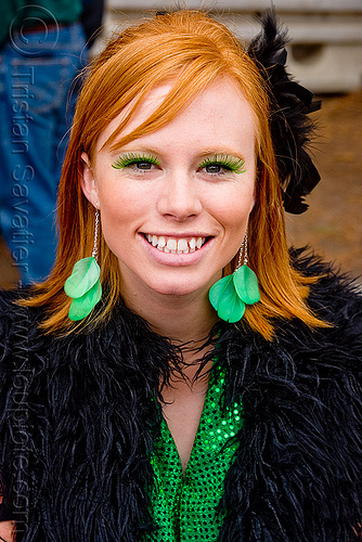 leigh - burning man decompression 2009 (san francisco), leigh, read hair, readhead, woman