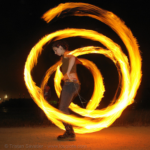 lexie spinning fire poi, fantastic, fire dancer, fire dancing, fire performer, fire poi, fire spinning, flames, lexie, long exposure, night, people, spinning fire