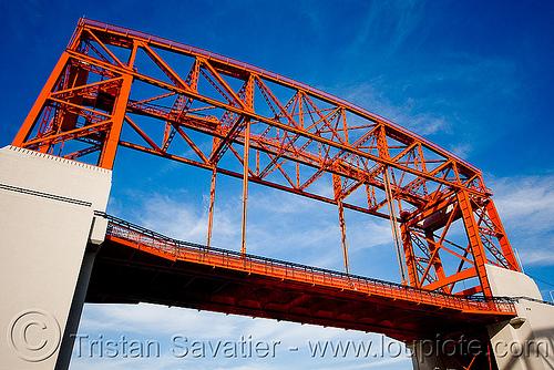 lift bridge, buenos aires, la boca, metal, movable bridge, puente nicolas avellaneda, puente nicolás avellaneda, riachuelo, río la matanza, río matanza, steel, truss, vertical lift bridge