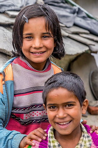 little girl and little boy in himalayan village (india), boy, children, janki chatti, kids, little girl