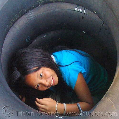 little girl in tube (thailand), child, fair, inner tubes, kid, little girl, river tubing, songkran, tha ton, thailand, สงกรานต์
