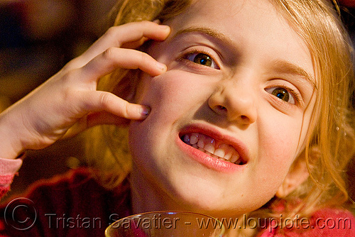 little girl making faces, apolline, blonde, child, kid, little girl, making faces, mouth, teeth