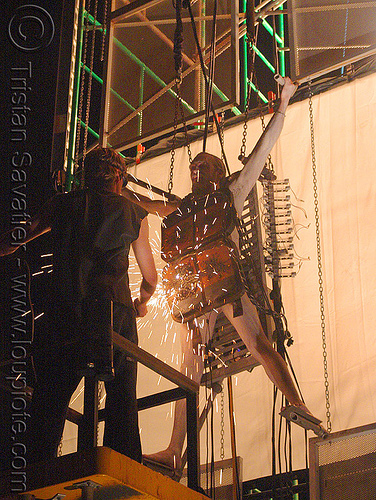 live performance with electricity - david therrien's installation, art, fire arts festival, man, people, the crucible