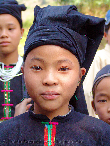 """lo lo den"" tribe girl - vietnam, black lo lo tribe, children, girls, hill tribes, indigenous, kids, little girl, lo lo den tribe, tribe girl"