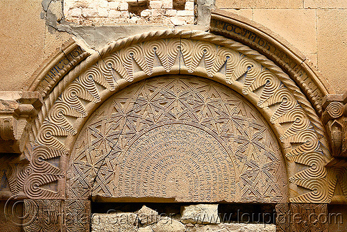 Işhan monastery - georgian church ruin (turkey), byzantine architecture, carving, decoration, detail, door, geometric, georgian church, ishan monastery, işhan church, low-relief, motives, orthodox christian, religion, ruins, stone
