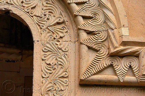 Işhan monastery - georgian church ruin (turkey), byzantine architecture, carving, decoration, detail, floral, geometric, georgian church, ishan monastery, işhan church, low-relief, motives, orthodox christian, religion, ruins, stone, window