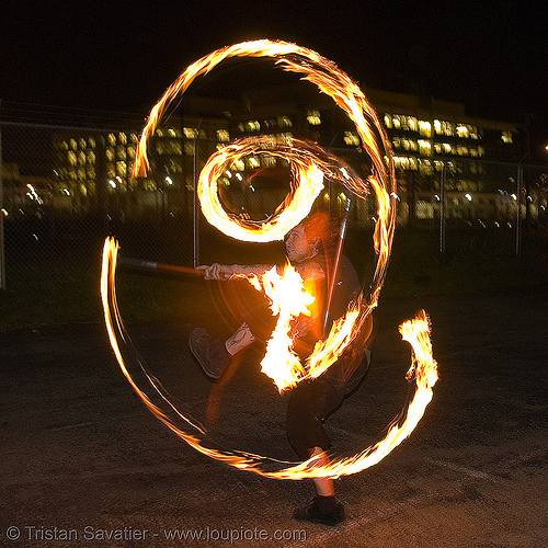 LSD fuego - fire performer spinning fire (san francisco), fire dancer, fire dancing, fire performer, fire poi, fire spinning, night, spinning fire