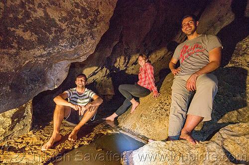 lumiang / sumaguing cave - sagada (philippines), cavers, caving, flowstone, lumiang cave, natural cave, philippines, sagada, sitting, spelunkers, spelunking, sumaguing cave, water
