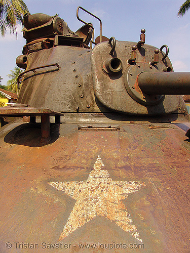 M48 patton tank turret - vietnam war, army tank, hué, m48 tank, m48a3 tank, military, rusty, vietnam war