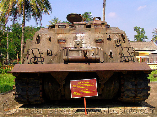 M88 armored recovery vehicle - war - vietnam, armored recovery vehicle, army museum, army tank, hué, military, rusty, vietnam war