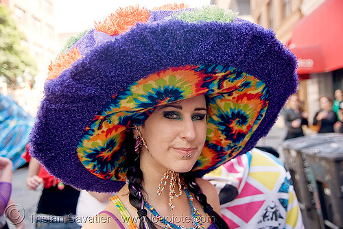 magic mushroom hat (san francisco), hat, how weird festival, magic mushroom, shroom, woman
