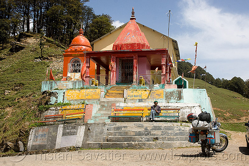 mahakali temple - jalori pass (india), india, jalori pass, jalorila, motorcycle touring, road, royal enfield bullet