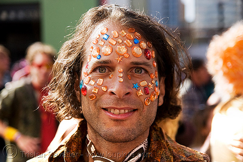 bindis, bindis, cosmo, guy, how weird festival, jewelry, man, many