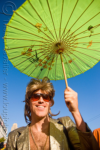 man with green japanese umbrella, festival, green, japanese umbrella, love fest, lovevolution, man, sunglasses