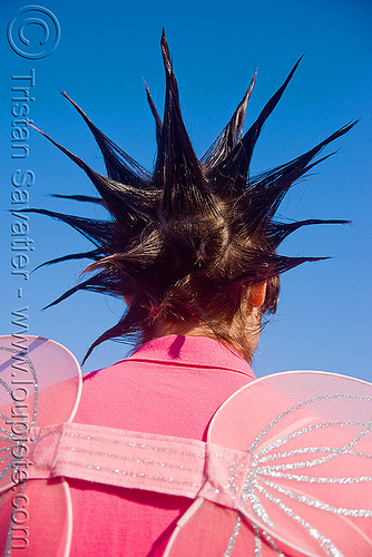 man with spiky hair, lovevolution, spiky hair