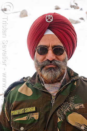 manprit singh - sikh military road engineer - B.R.O. - khardungla pass - ladakh (india), border roads organisation, bro, engineer, fatigues, india, indian army, khardung la pass, ladakh, man, manprit singh, military, mountain pass, sikh, sikhism, soldier, turban, uniform