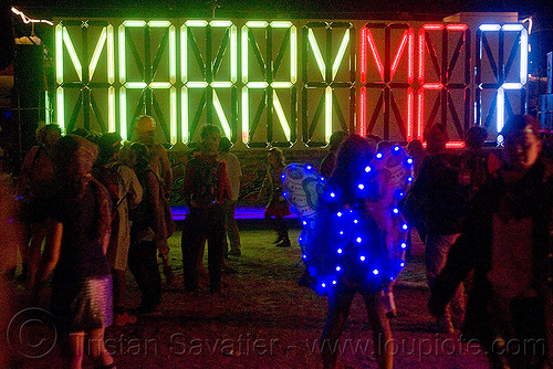 marry me?, art car, burning man, butterfly costume, ghetto gypsy, glowing, mutant vehicles, neons, night