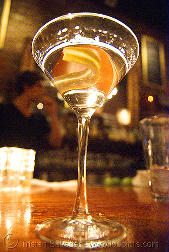 martini glass - cocktail, alcohol, cocktail, dof, drink, local bar, martini glass, vodka