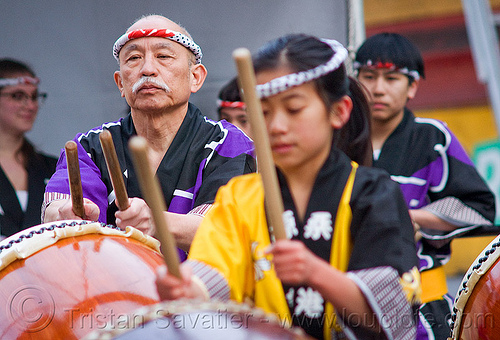 master taiko drummer, chinese new year, drummers, drumming, drumsticks, genryu arts, girl, japanese drums, lunar new year, man, master, taiko dojo