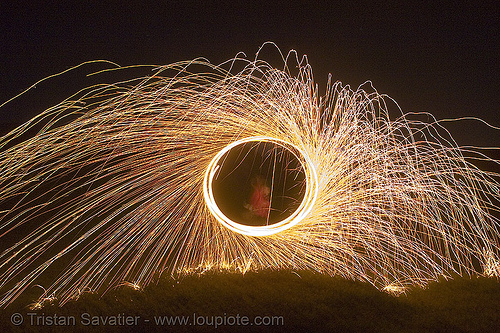 me, spinning steel wool, circle, fire dancer, fire dancing, fire performer, fire spinning, flames, long exposure, night, ring, sparkles, spinning fire, steel wool