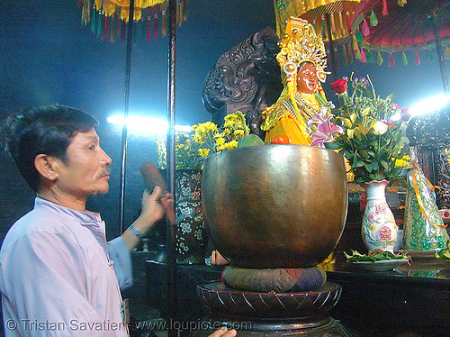 meditation bowl gong - metal - po nagar cham towers (nha trang) - vietnam, cham temples, hindu temple, hinduism, metal bowl, people, ritual bowl gong