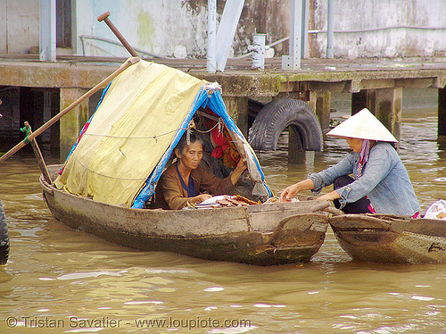 mekong river - floating market - boat - vietnam, boats, floating market, mekong river, water