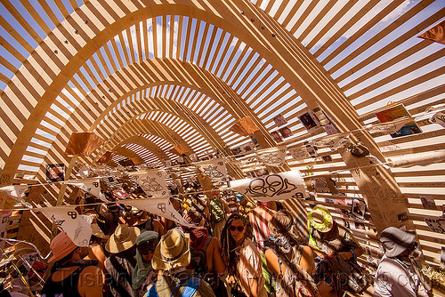 mementos in the temple of promise - burning man 2015, architecture, interior, temple of promise