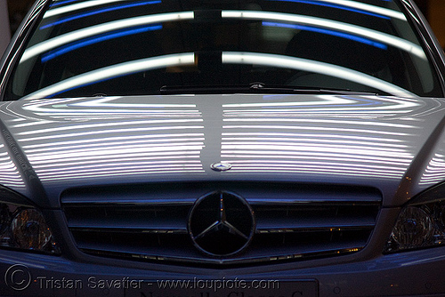 mercedes car in store window - avenue des champs-Élysées (paris), car, mercedes benz, paris, reflections