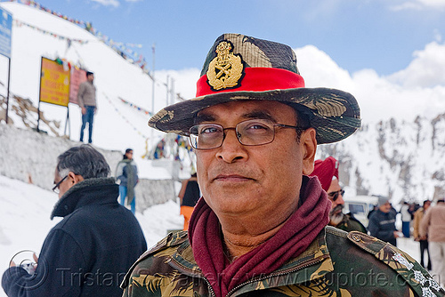 military road engineer - B.R.O. - khardungla pass - ladakh (india), border roads organisation, bro, engineer, fatigues, hat, indian army, khardung la pass, ladakh, military, mountain pass, uniform