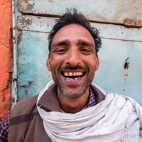 milkman smiling - doodh wallah (india), doodh-wallah, india, man, teeth, varanasi