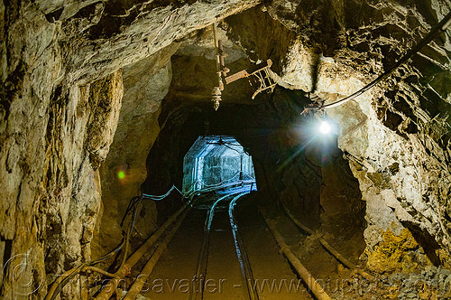 mine tunnel (philippines), balatoc mines, curve, gallery, gold mine, philippines, railroad, rails, railway, tunnel